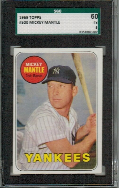 1969 Topps #500 Mickey Mantle SGC 5