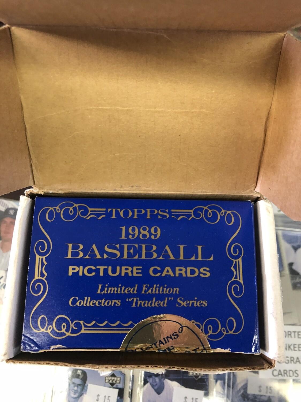 1989 Topps Tiffany Traded Baseball Set