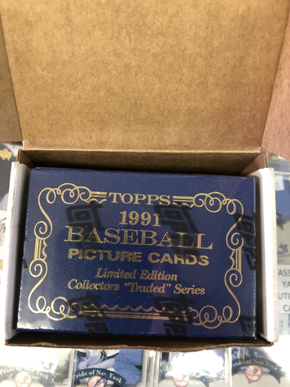 1991 Topps Traded Tiffany Factory Baseball Set
