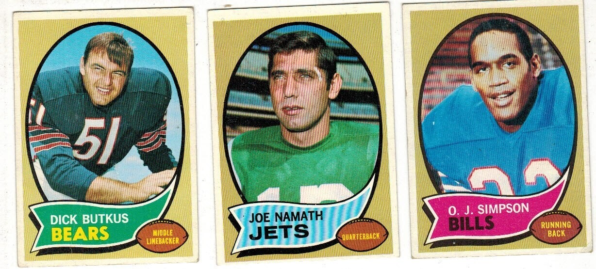 1970 Topps Football Complete set Ex to Ex+ list $475