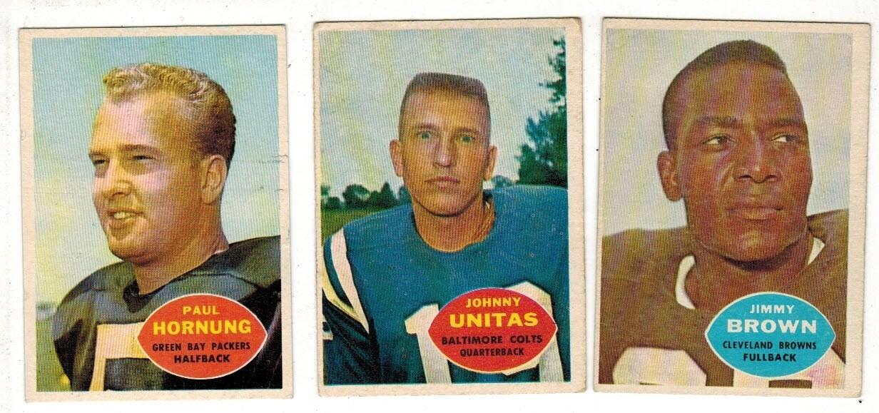 1960 Topps Football Complete set VG/EX list $800