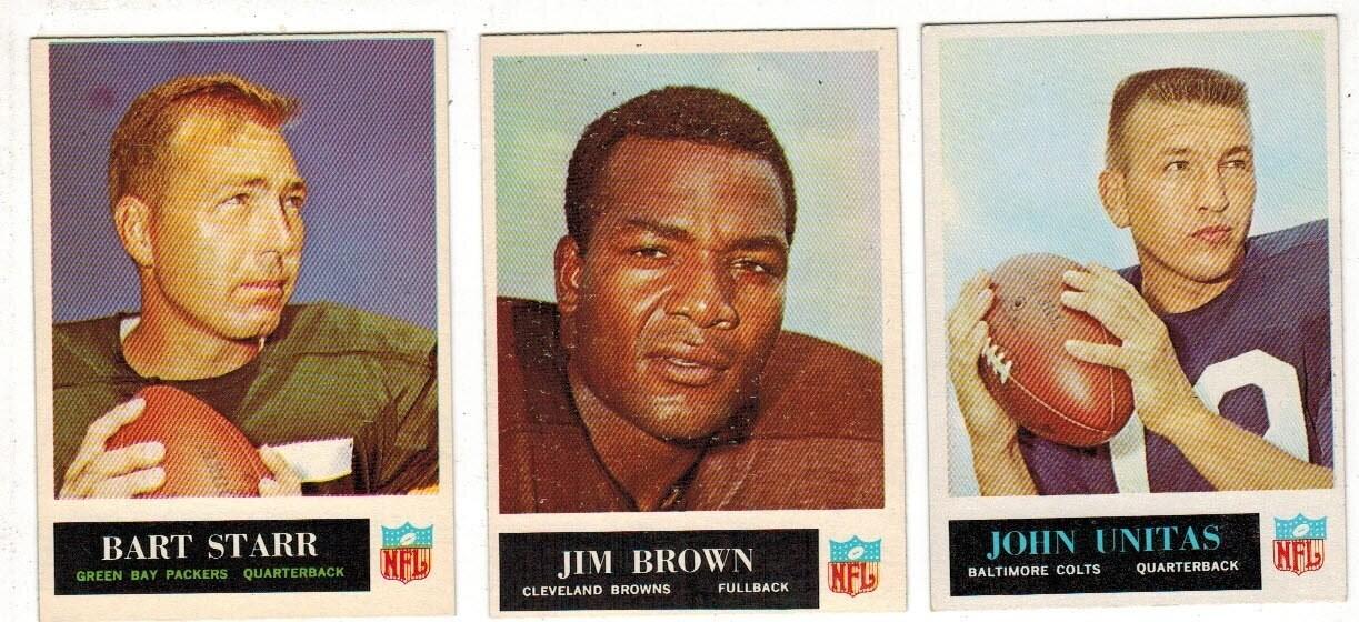 1965 Philadelphia Football Complete set Ex to Ex/Mint list $800
