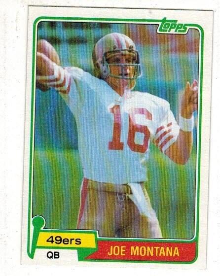 1981 Topps Joe Montana rookie