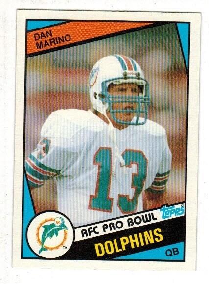 1984 Topps Dan Marino Well Centered Nr Mint