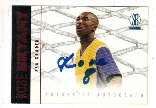 1997 Scoreboard kobe Bryant signed on card