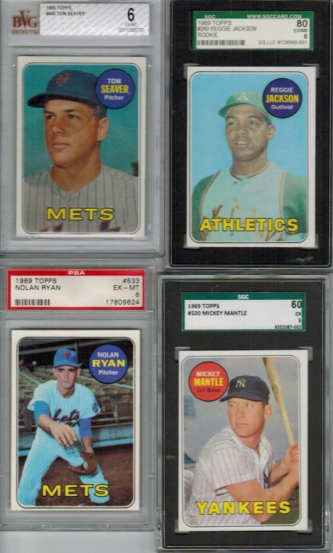 1969 Topps Baseball Complete set Ex/Mint or better