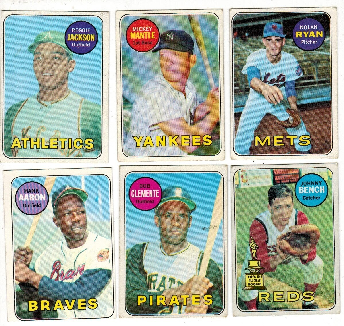 1969 Topps Baseball Complete set Ex to Ex+ List $6,000