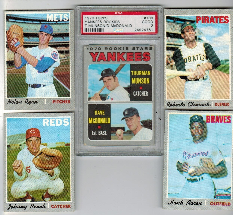 1970 Topps Baseball Complete set VG to Ex+ List $3,000