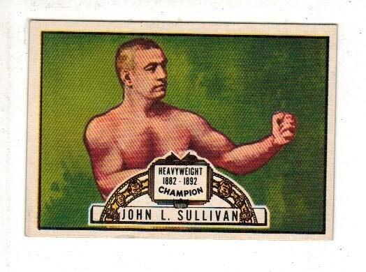 1951 Ringside boxing #69 John L. Sullivan Near Mint/Mint