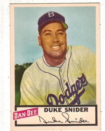 1954 Dan Dee Potato Chip Duke Snider Near Mint/Mint
