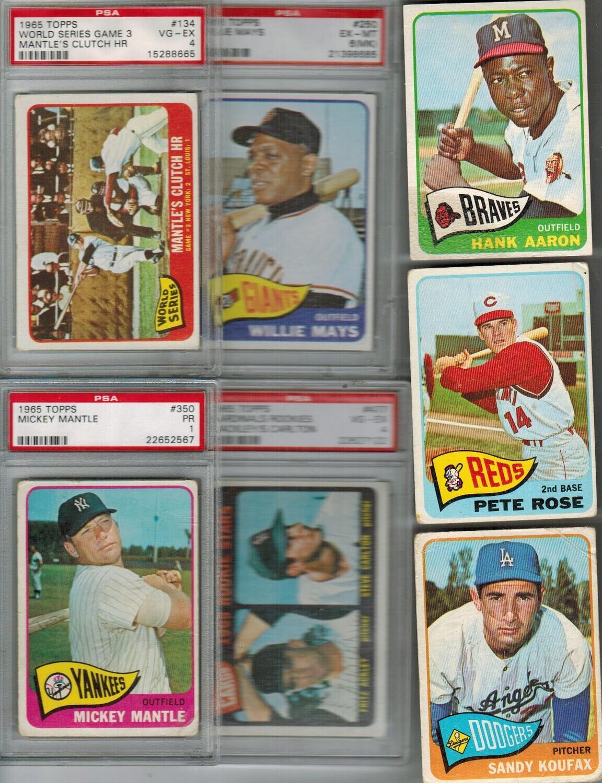 1965 Topps Baseball Complete Set VG list $6,000