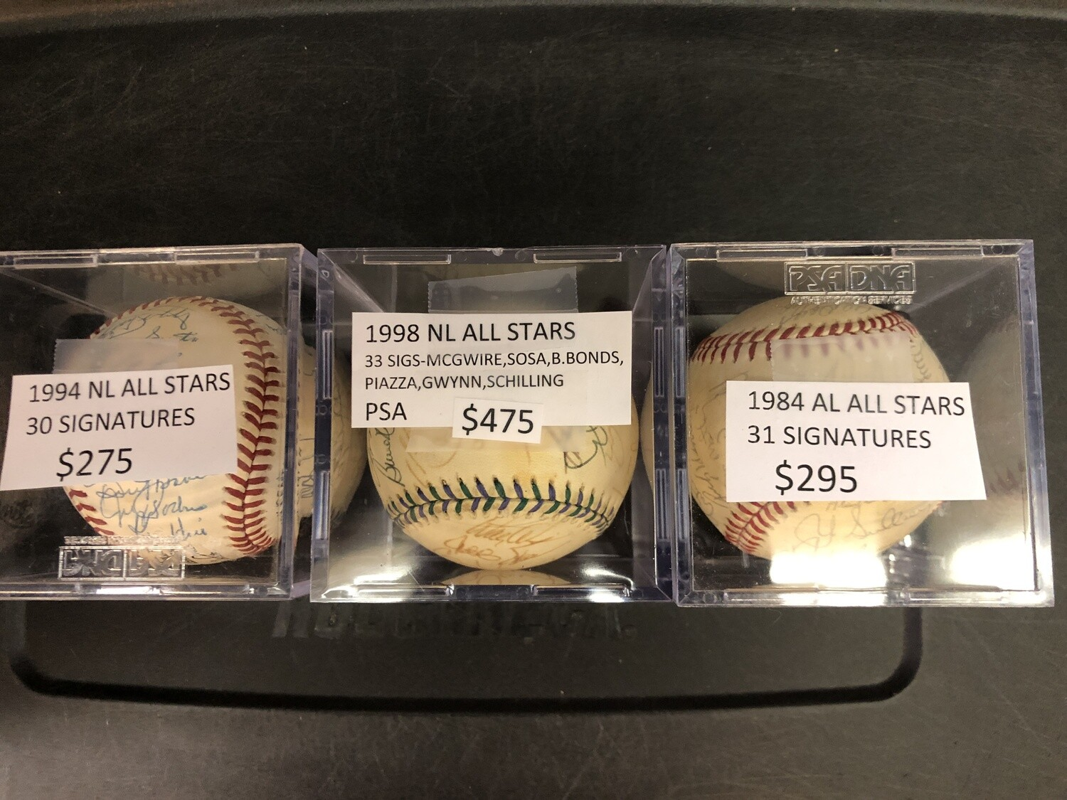 1998 National League All Stars signed ball PSA 33 sigs