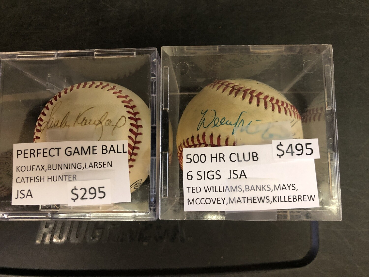 500 Home Run Club signed ball JSA 6 sigs Ted Williams