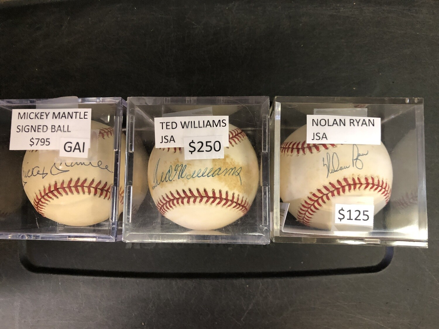 Ted Williams signed baseball JSA authenticated