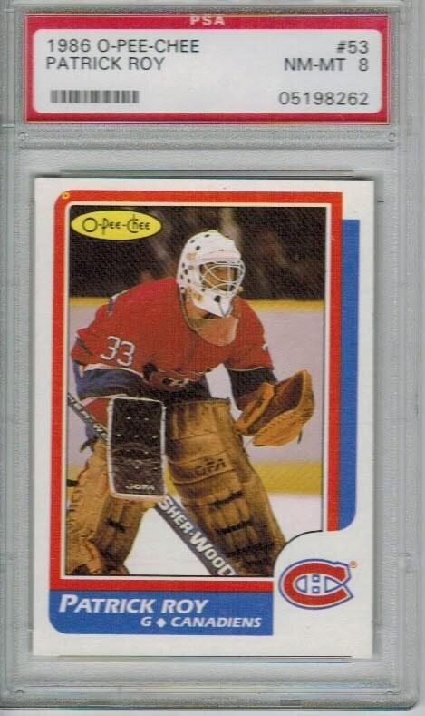 1986/87 Opeechee Patrick Roy rookie PSA 8