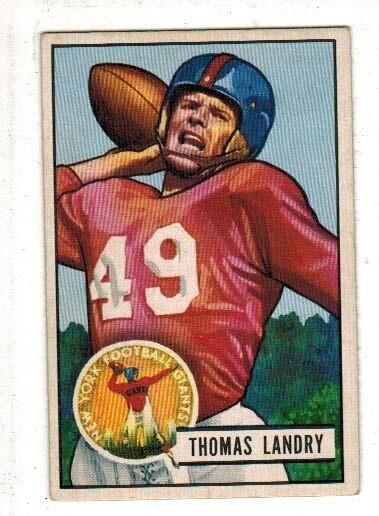 1951 Bowman #20 Tom Landry rookie list $500