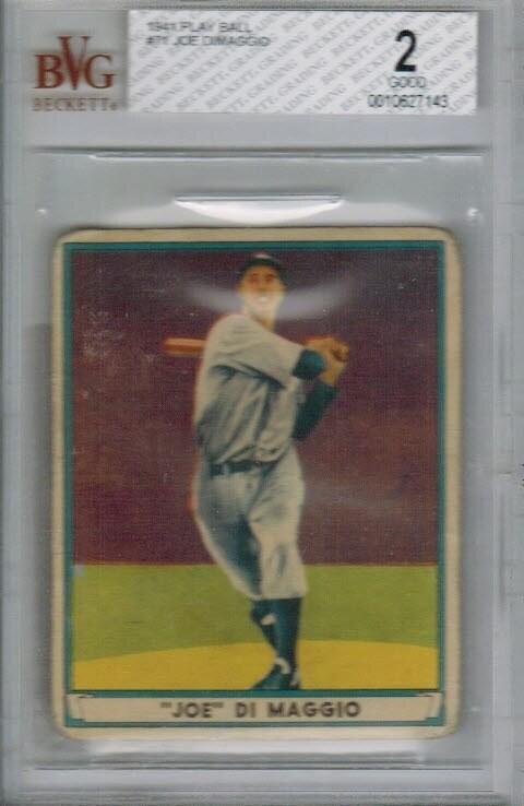 1941 Playball #71 Joe Dimaggio Beckett graded 2