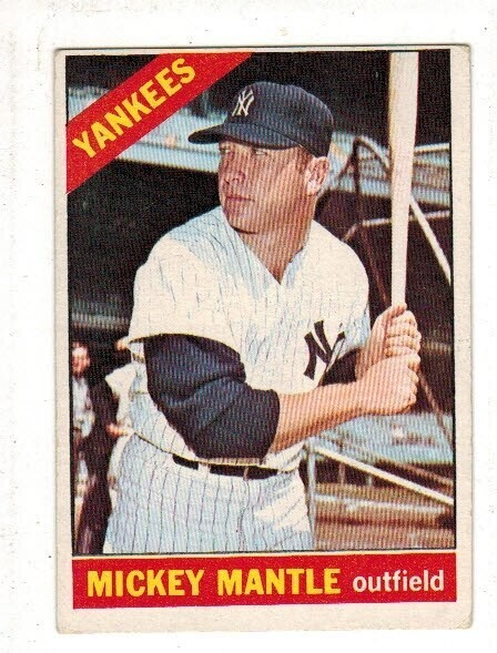 1966 Topps #50 Mickey Mantle list $600