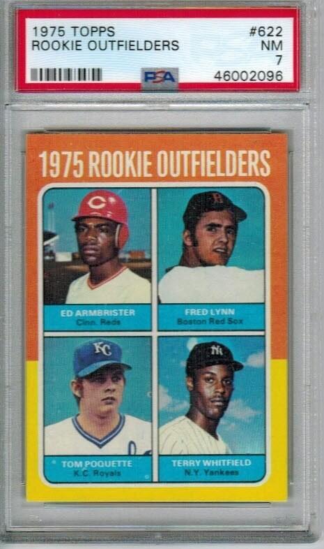 1975 Topps #622 Fred Lynn Rookie PSA 7