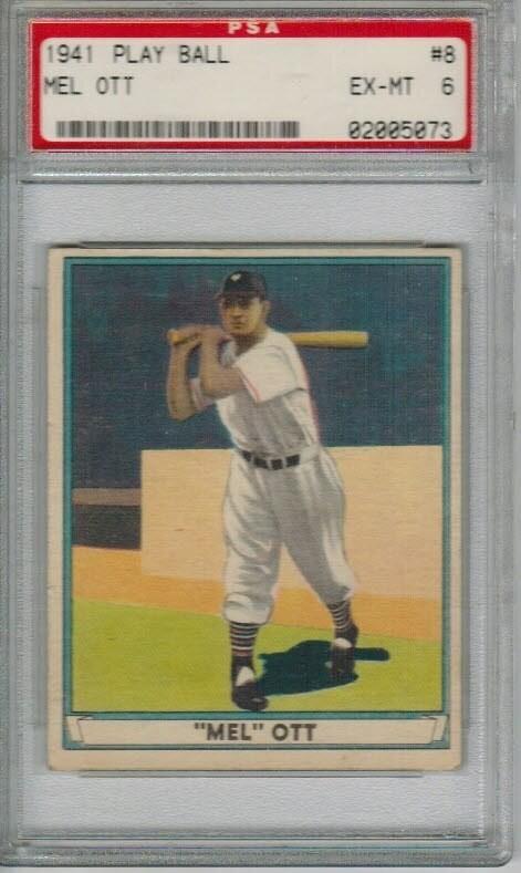 1941 Playball #8 Mel Ott PSA 6