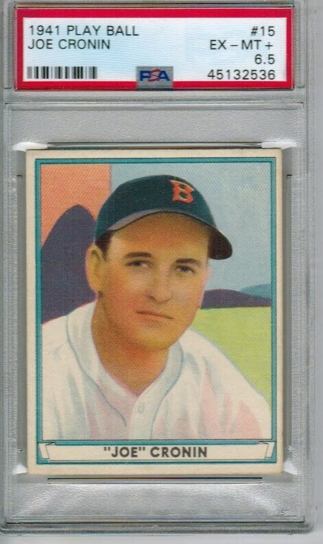 1941 Playball #15 Joe Cronin PSA 6.5