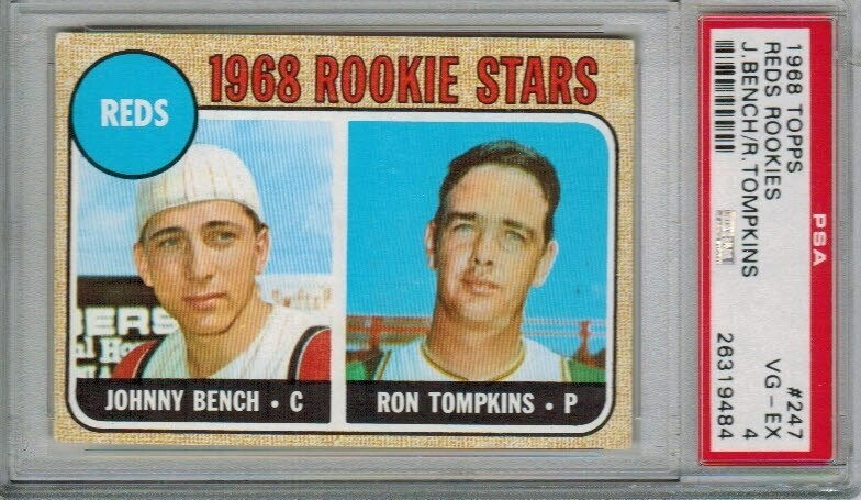 1968 Topps #247 Johnny Bench rookie PSA 4