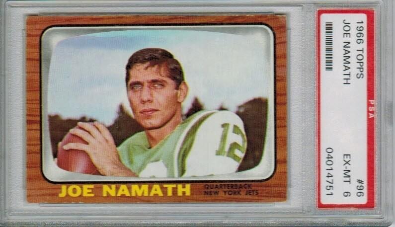 1966 Topps #96 Joe Namath 2nd year PSA 6