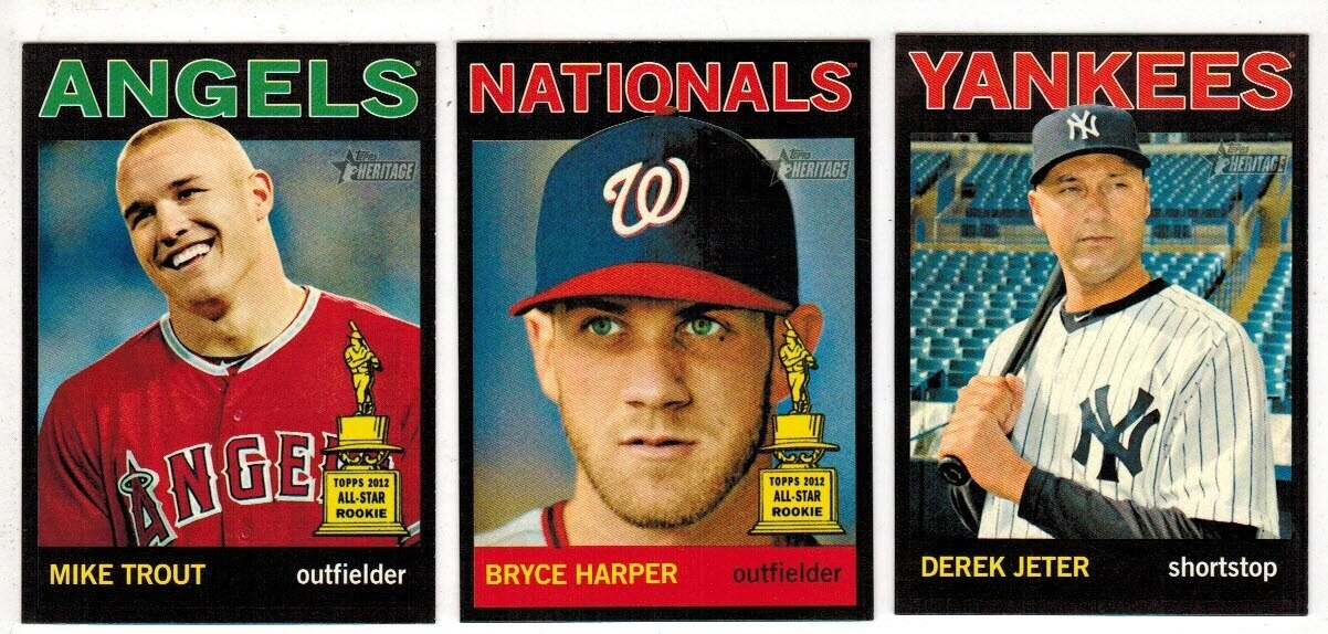 2013 Topps Heritage Black Parallel Complete 100 ct. Set