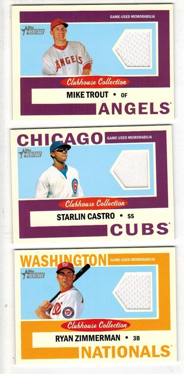 2013 Topps Heritage Clubhouse Collection Jersey cards Complete 74 ct. Set