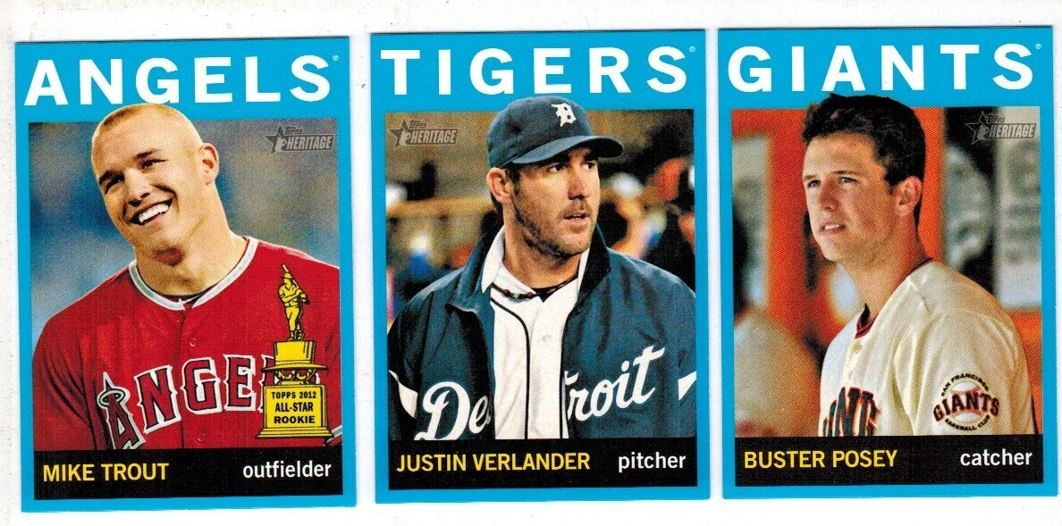 2013 Topps Heritage Target Blue Parallel Complete 25 ct. Set