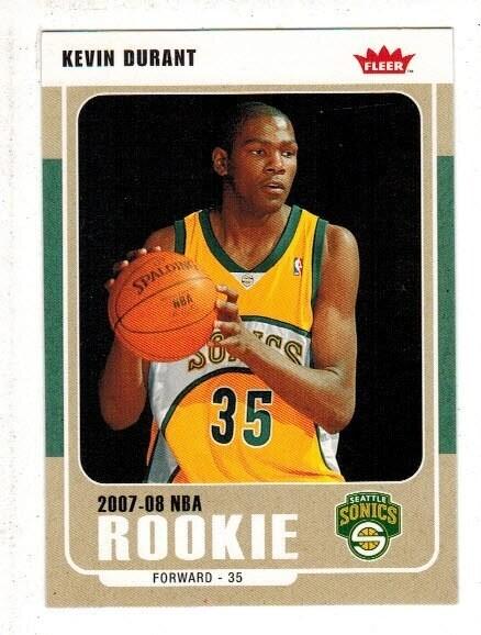 2007/08 Fleer #212 Kevin Durant rookie