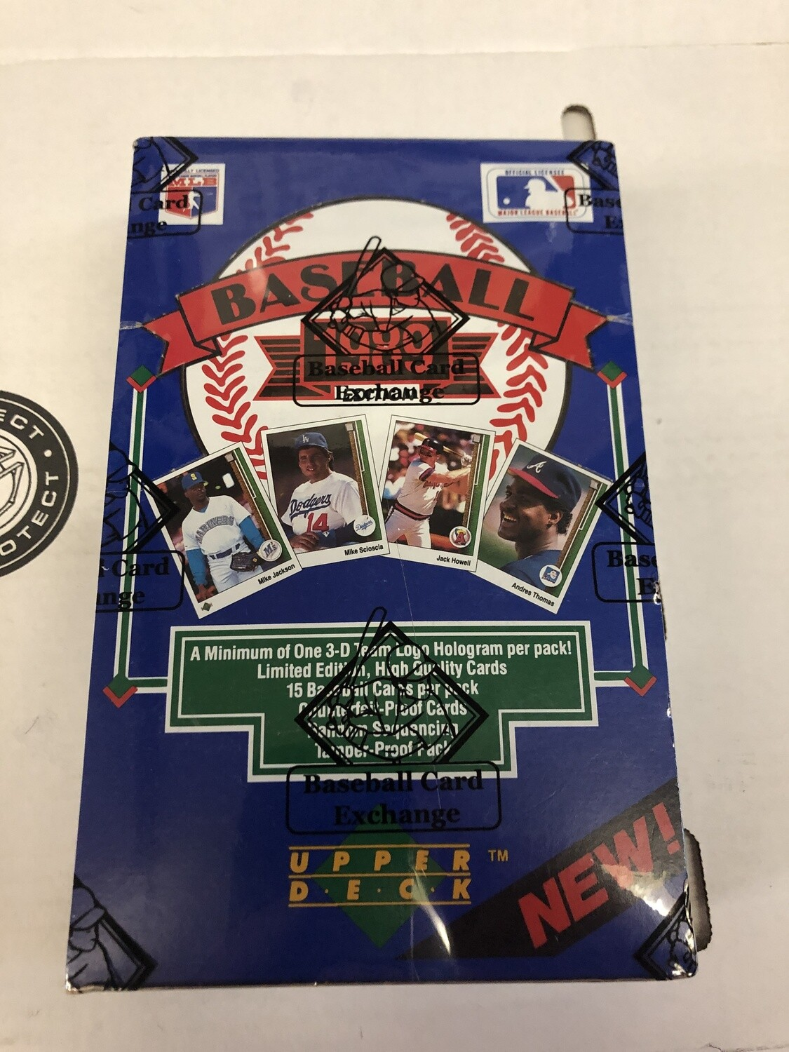 1989 Upper Deck Low # Wax Box BBCE Wrapped