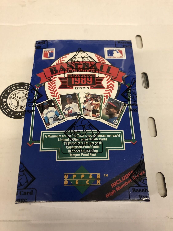 1989 Upper Deck High # Wax Box BBCE Wrapped