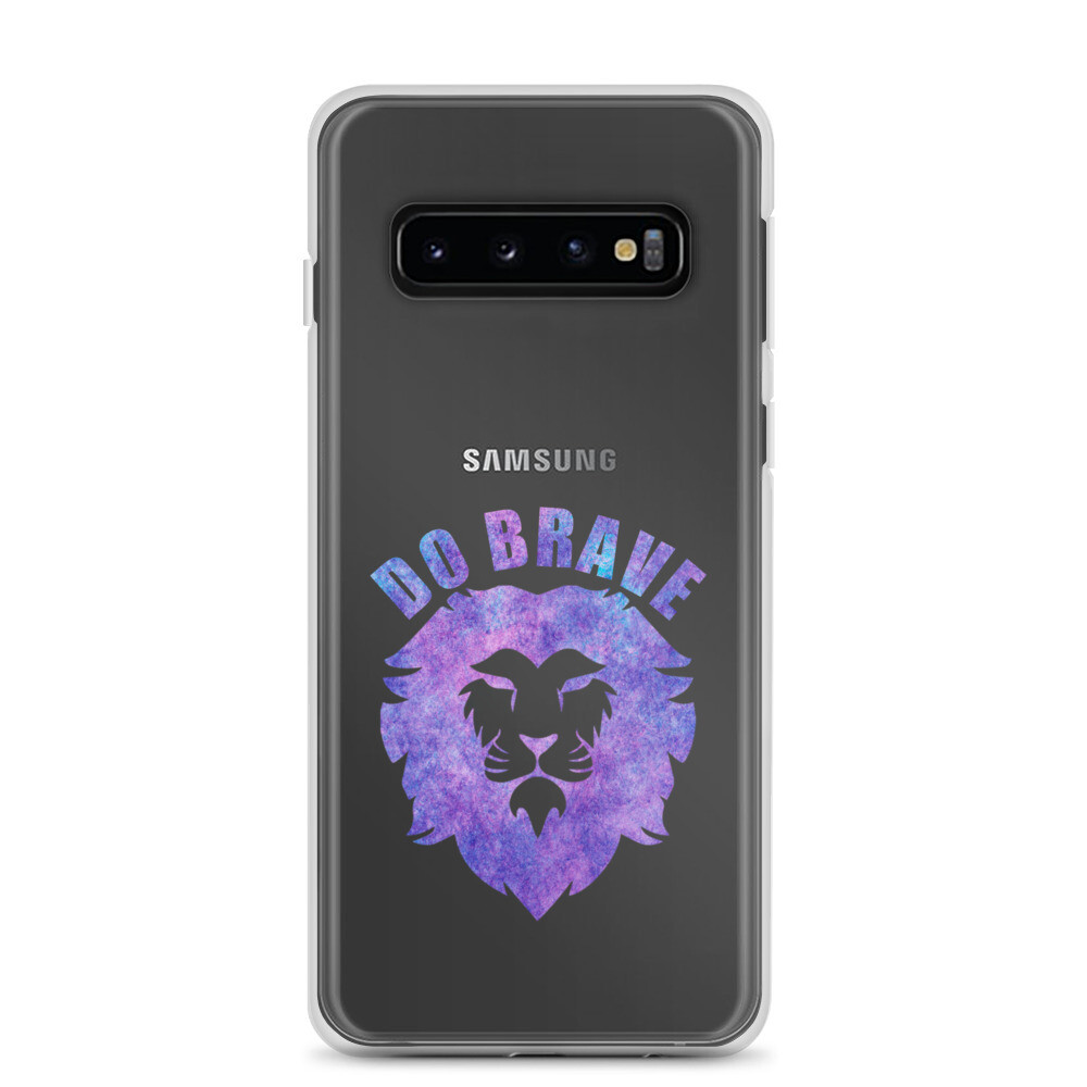 Watercolor Do Brave Lion Samsung Case