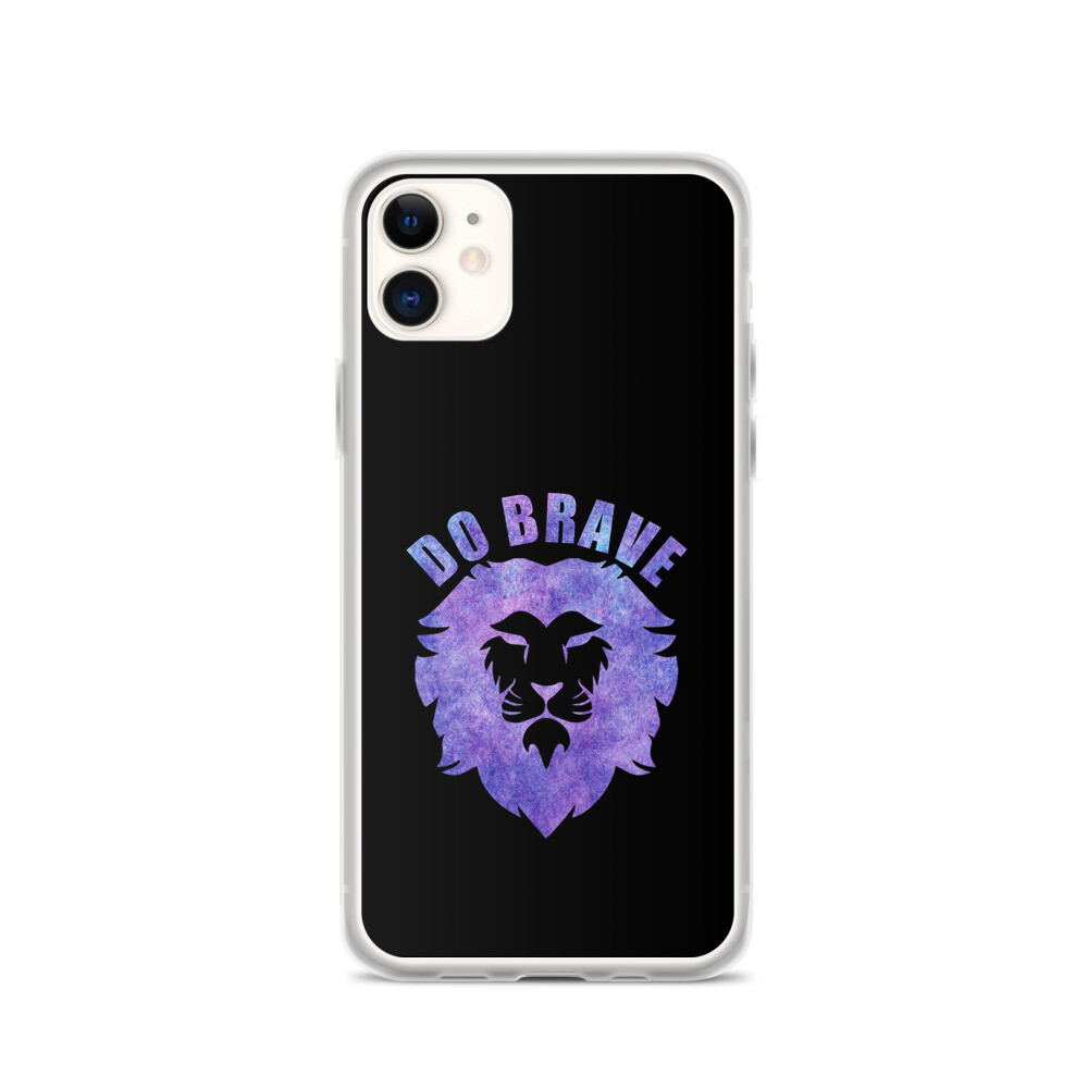 Watercolor Do Brave Lion iPhone Case