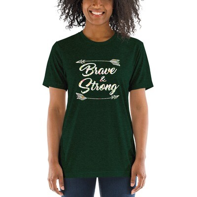 Brave and Strong Ladies Classic Tees | Cute Shirts | Be Brave Quotes