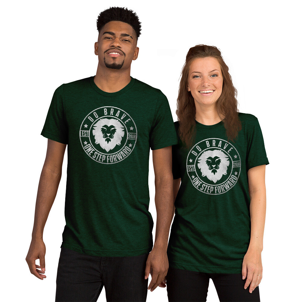 Do Brave Emblem Unisex Tri-Blend T-Shirt