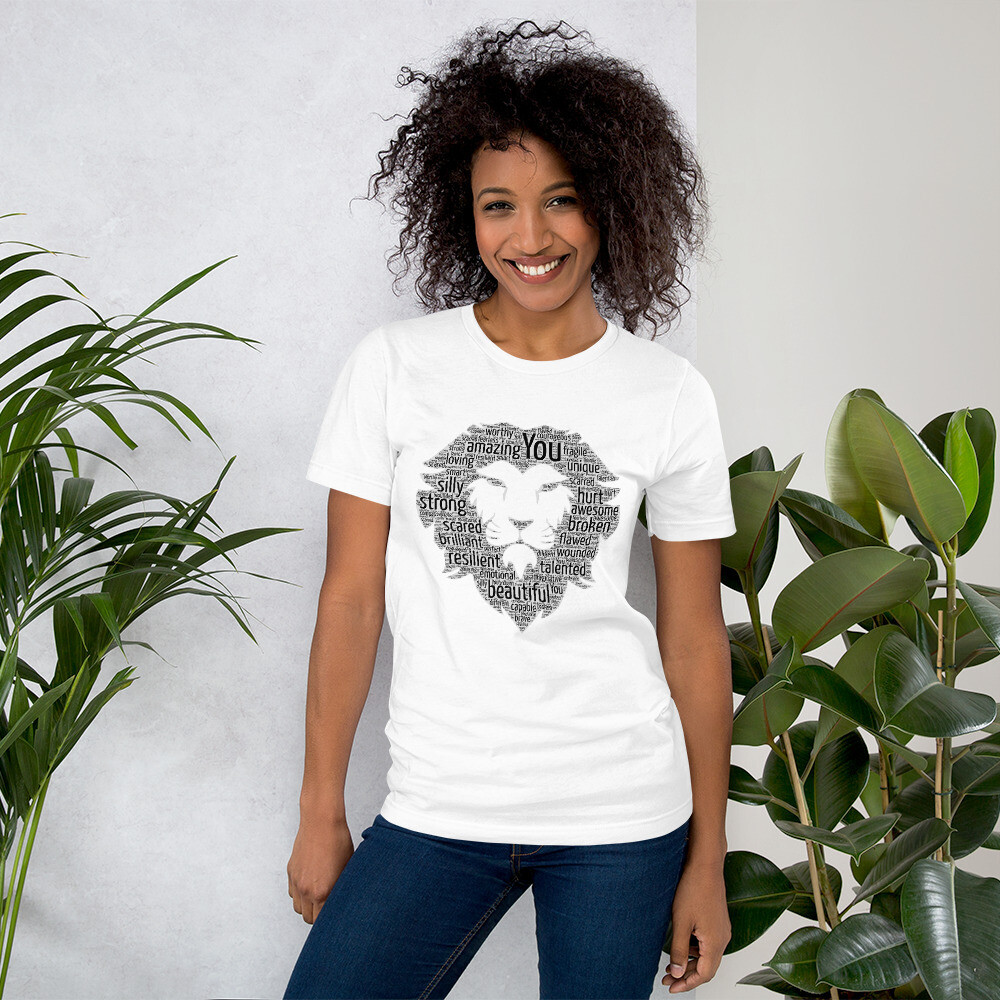 Word Art Lion Logo Unisex T-Shirt