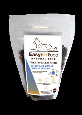 Easy Pet Food - Grain Free Snack per cani con 80% di Carne bianche -gr. 500
