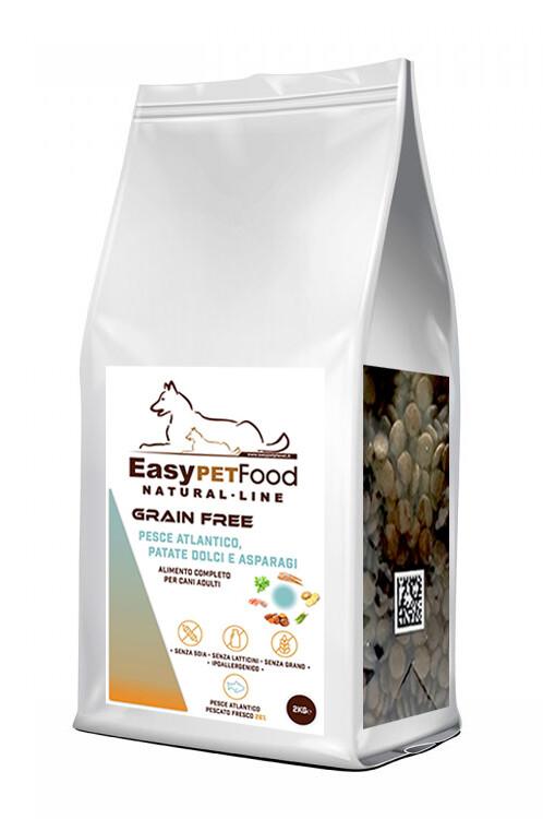 Grain Free Dog Adult - Pesce Atlantico, Patate Dolci, sparagi.