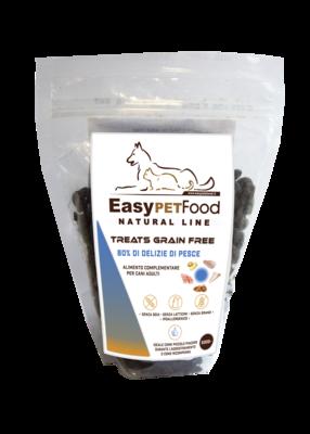 Easy Pet Food - Grain Free Snack per cani con 80% di Delizie di Pesce -gr. 500
