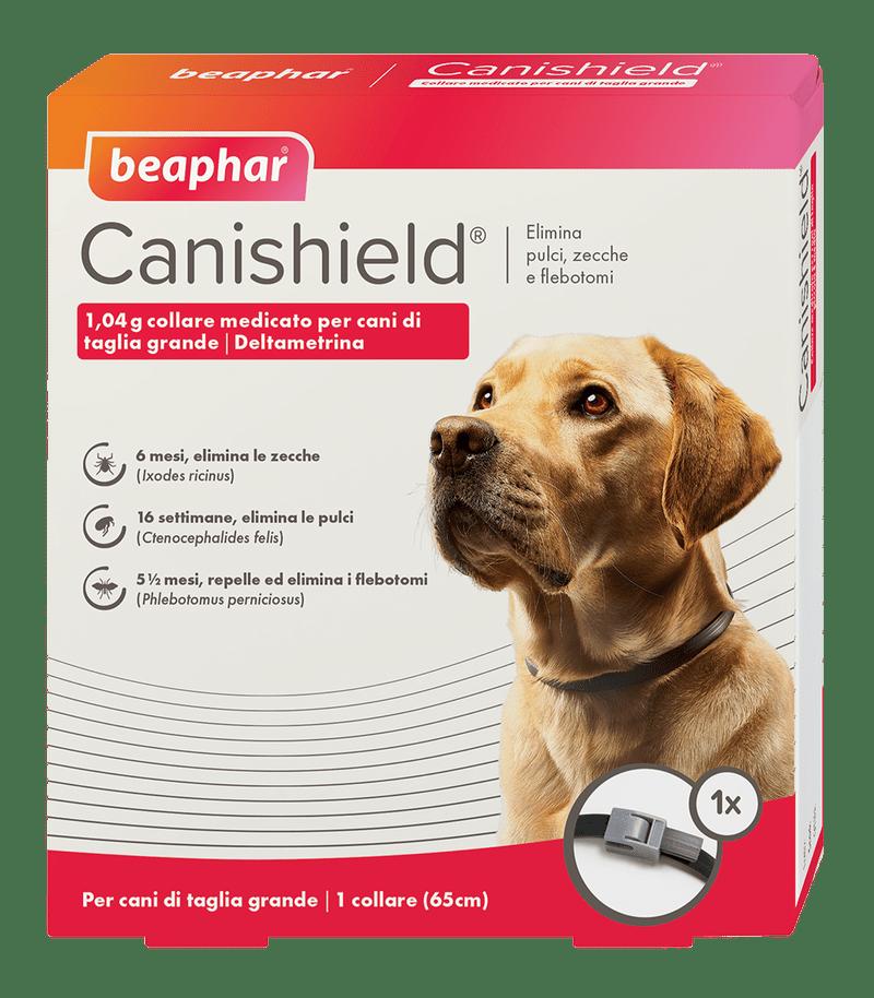 Beaphar Canishield® – Collare antiparassitario regolabile per cani. conf. con  2 collari - Taglia L