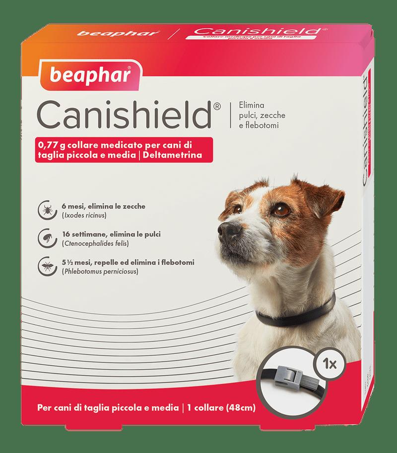 Beaphar Canishield® – Collare antiparassitario regolabile per cani. conf. con  2 collari - Taglia S-M