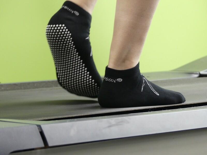 GripSox® Black Socks (Anklet)
