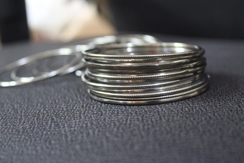 Oxidized Bangles - Set of 26