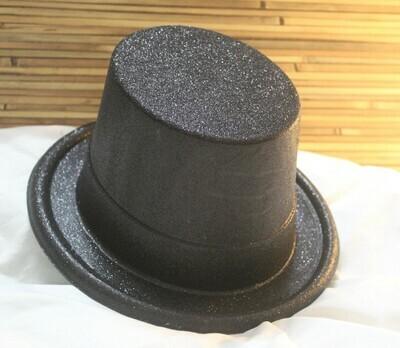 Black Shimmer Party Top Hat