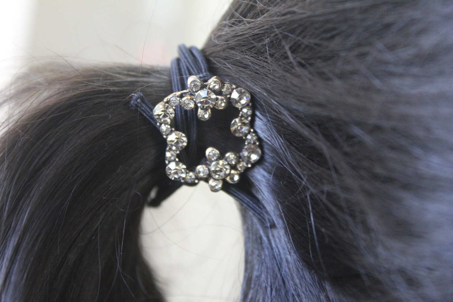 Studded Hair Tie with Elasticized Band