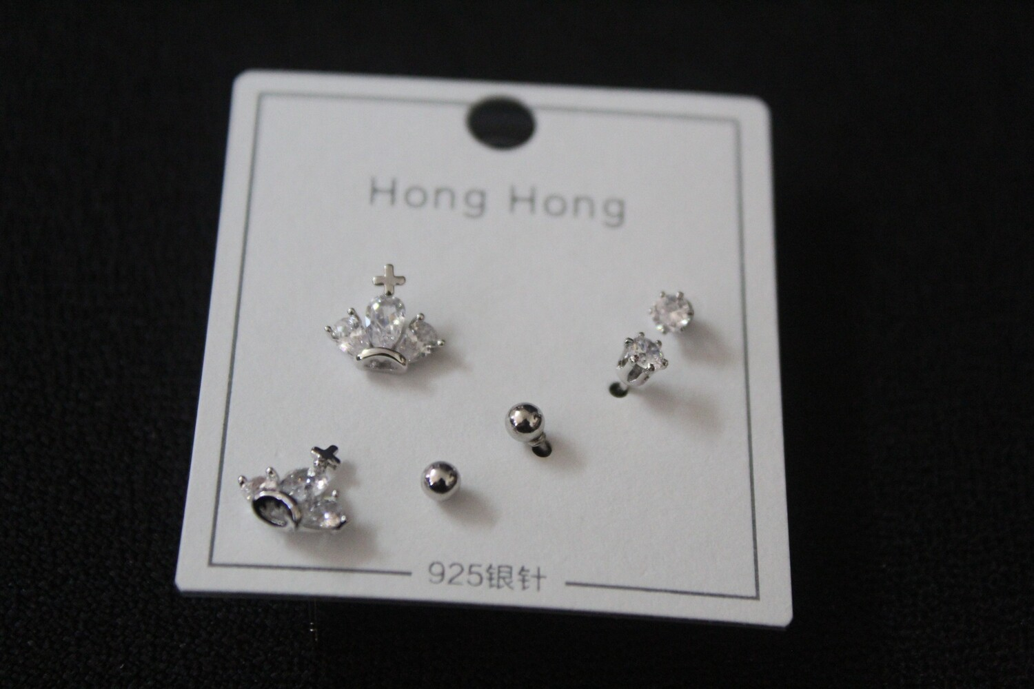 3-Pair Assorted Earring Set