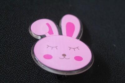 Pink Bunny Hairclip