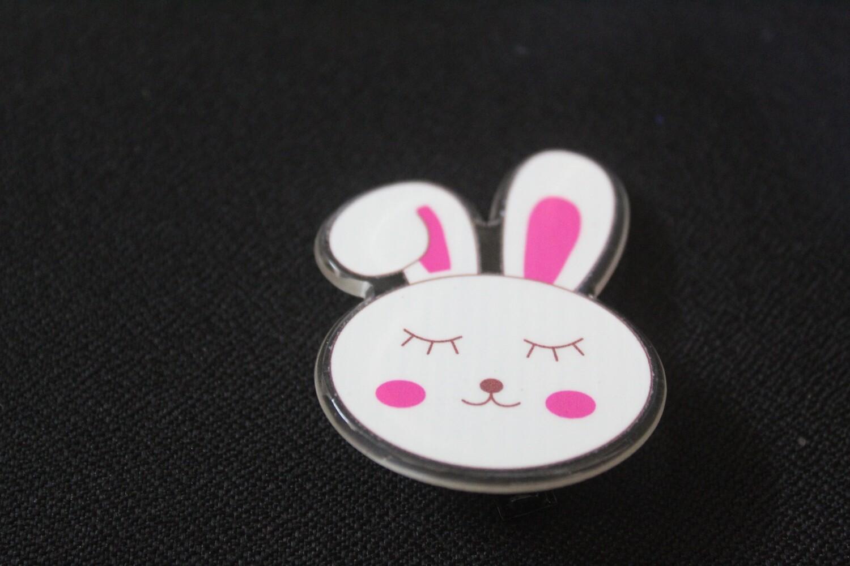 White Bunny Hairclip